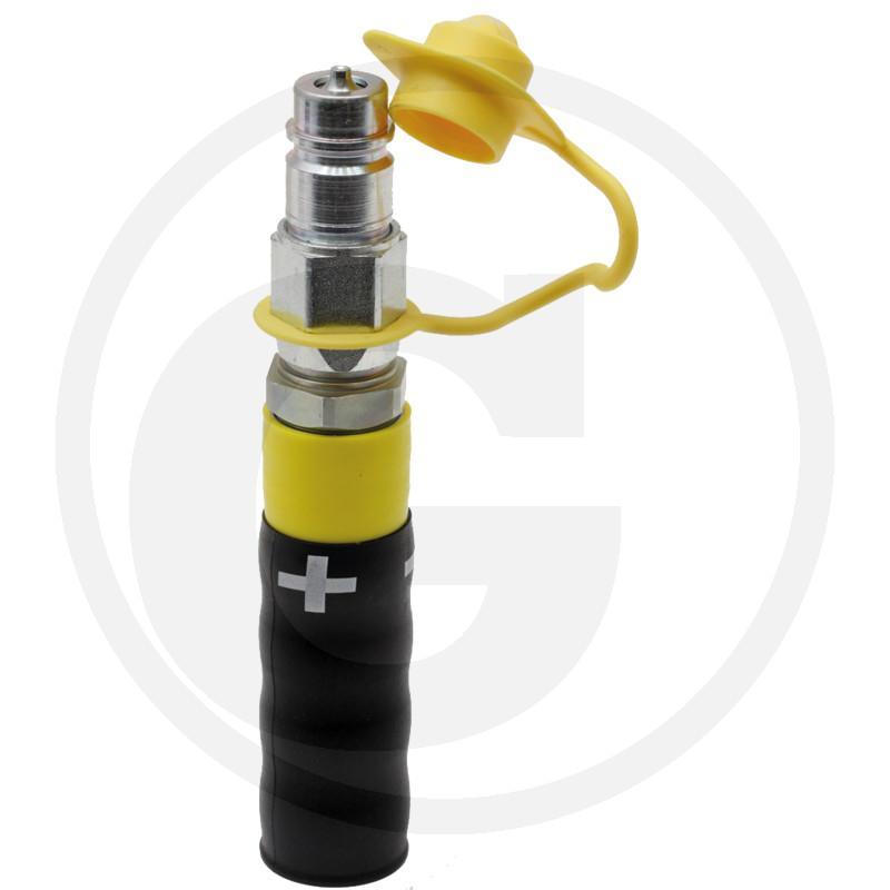 Zdjęcie 1:  (+) Wtyczka - uchwyt z tworzywa, kolor żółty