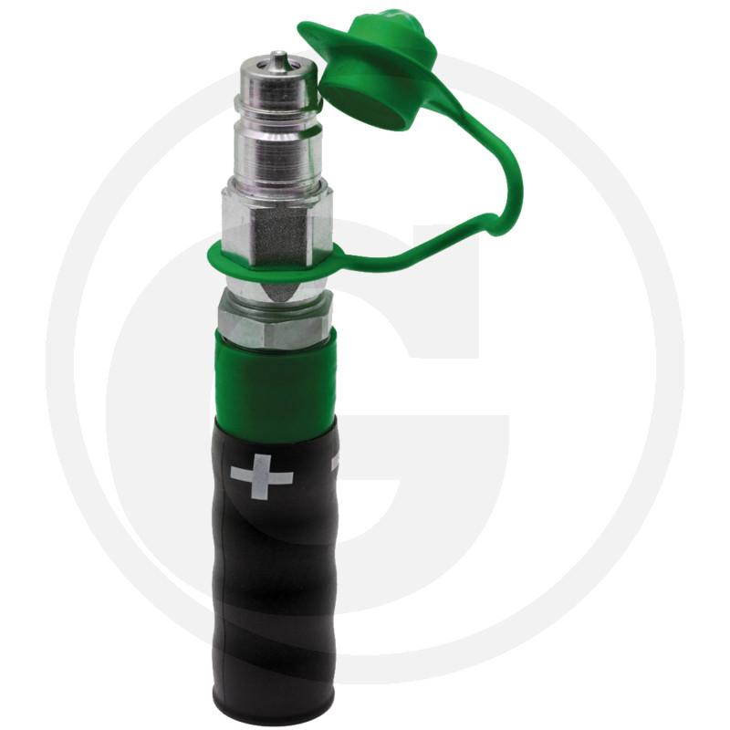 Zdjęcie 1:  (+) Wtyczka - uchwyt z tworzywa, kolor zielony
